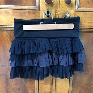 Free People Black Ruffled Skirt
